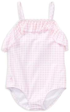 Polo Ralph Lauren Girls' Ruffled Gingham-Print Swimsuit - Little Kid
