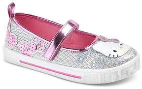 Hello Kitty Toddler Girls' Glitter Mary Jane Shoes - Silver