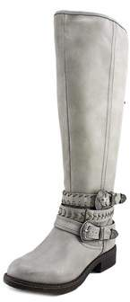 Madden-Girl Carrage Women Round Toe Synthetic Gray Mid Calf Boot.