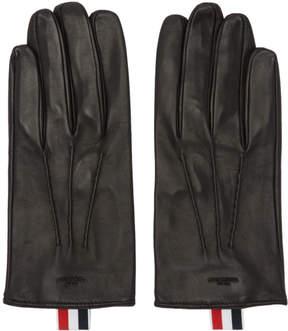 Thom Browne Black Short Unlined Gloves