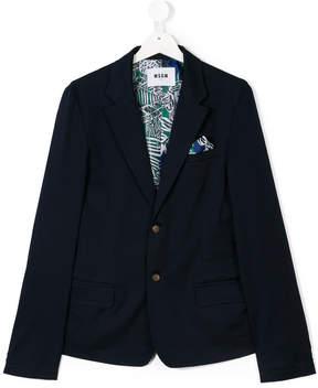 MSGM TEEN handkerchief blazer