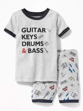 Old Navy Guitar Keys Drums & Bass Sleep Set for Toddler Boys & Baby