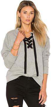 Black Orchid Lace Up Sweatshirt