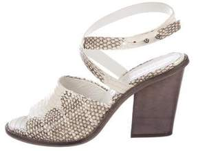 Freda Salvador Embossed Leather Sandals