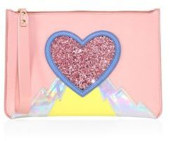 Sophie Hulme Talbot Embellished Leather Zip Pouch