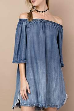 Easel Distressed Denim Dress