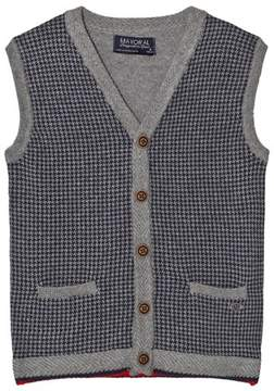 Mayoral Grey Houndstooth Design Vest
