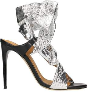 IRO Silver Leather Sandals