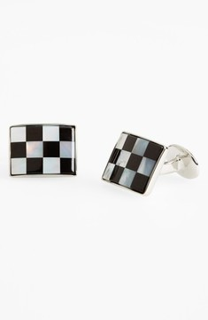 David Donahue Men's Checkerboard Cuff Links