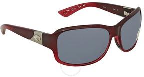 Costa del Mar Inlet Medium Fit Grey Rectangular Sunglasses IT 48 OGP