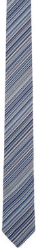Paul Smith Navy Striped Blade Tie