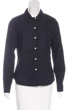 Band Of Outsiders Pleat-Accented Button-Up Top