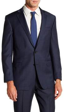 Brooks Brothers Notch Collar Front Button Plaid Print Regent Fit Jacket