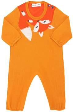 Sonia Rykiel Fox Wool Blend Knit Romper