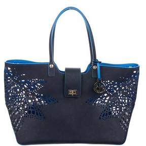 Henri Bendel Laser Cut Leather Tote