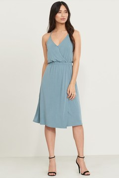 Dynamite Pleated Wrap Dress
