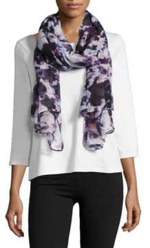 Lord & Taylor Abstract Floral Printed Scarf