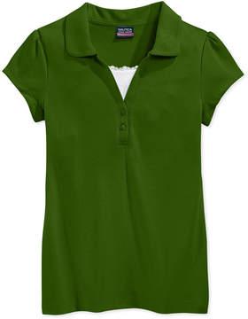 Nautica School Uniform Layered-Look Polo Shirt, Big Girls Plus