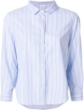Aspesi striped cropped-sleeve shirt