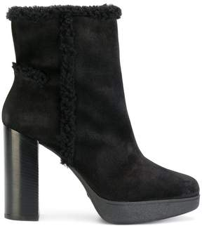Tod's faux shearling-trimmed ankle boots