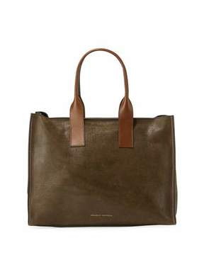 Brunello Cucinelli Smooth Calf Leather Tote Bag