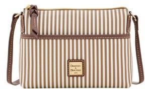 Dooney & Bourke DB Stripe Ginger Crossbody Shoulder Bag - TAUPE - STYLE