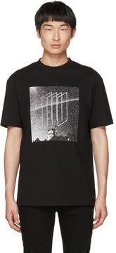 McQ Black Dropped Shoulder Graphic T-Shirt