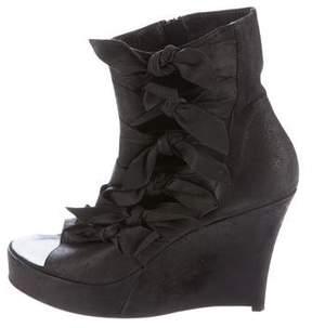 A.F.Vandevorst A.F. Vandevorst Suede Open-Toe Boots