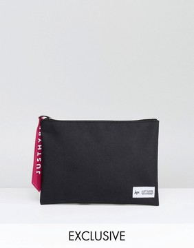 Hype Exclusive Black Pouch With Pink Tab