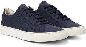 Common Projects Achilles Perforated Nubuck Sneakers