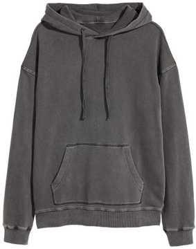 H&M Washed Hooded Sweatshirt