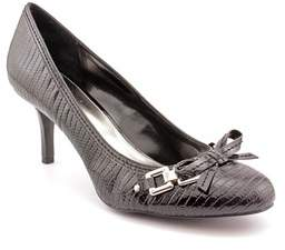 Alfani Dew Women Round Toe Synthetic Black Heels.