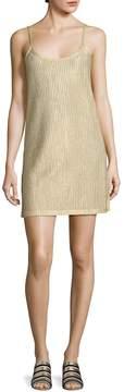 Each X Other Women's Metallic Rib-Knit Slip Dress