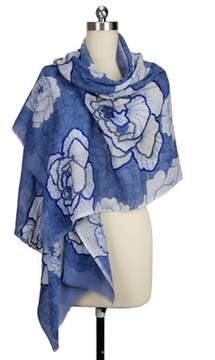 Saachi Women's Stitch Flower Scarf.