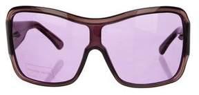 Alexander McQueen Tinted Shield Sunglasses