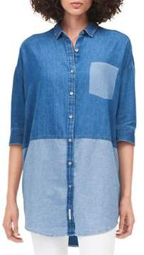 Calvin Klein Jeans Colorblocked Denim Button-Down Shirt