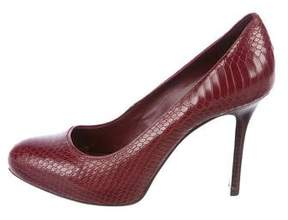 Tory Burch Embossed Round-Toe Pumps