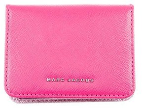 Marc Jacobs Leather Logo Cardholder - PINK - STYLE
