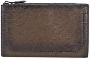 Salvatore Ferragamo pebbled grain clutch bag