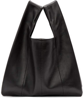 Kara Black Lambskin Mini Shopper Tote