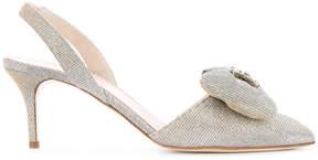 Oscar de la Renta studded detail sandals