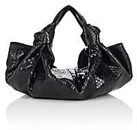 The Row Women's The Ascot Small Python Bag-Black