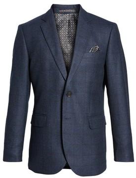 Moods of Norway Men's Andersen Trim Fit Plaid Wool Sport Coat