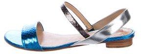 Reed Krakoff Embossed Slingback Sandals