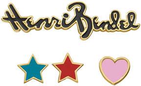 Henri Bendel Star And Heart Pin Set