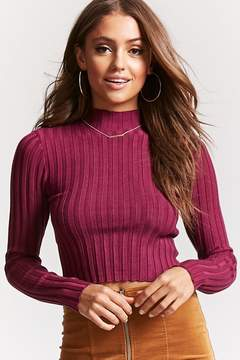 Forever 21 Ribbed Mock Neck Sweater