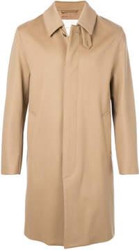 MACKINTOSH concealed single breasted coat