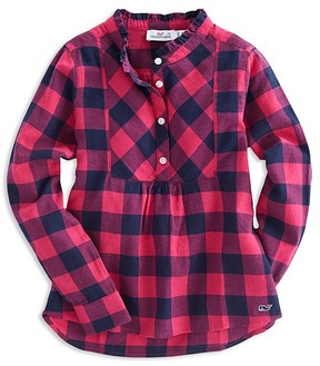 Vineyard Vines Girls' Buffalo-Check Shirt - Little Kid