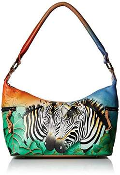 Anuschka Anna by Hand Painted Leather Women's Medium East WEST HOBO