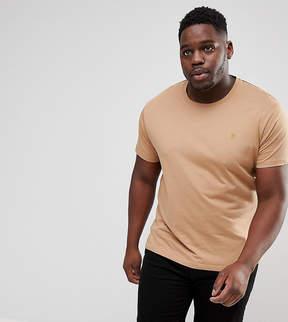Farah PLUS Farris Slim Fit T-Shirt in Brown